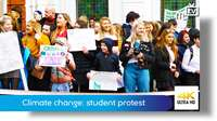 Climate change: student protest
