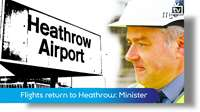 Flights return to Heathrow: Infrastructure Minister
