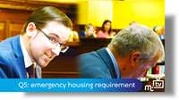 Q5: emergency housing requirement