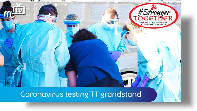 Preview of - Coronavirus testing moves to TT grandstand