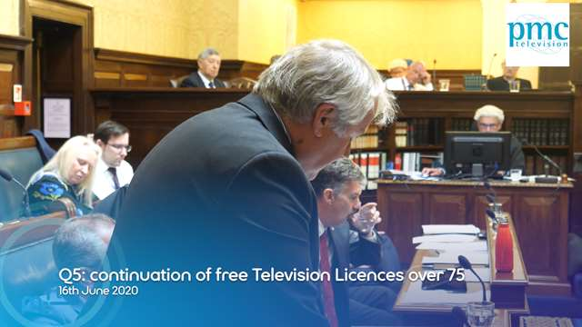Preview of - Q5: continuation of free Television Licences for those people aged over 75