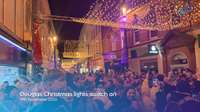 Douglas Christmas lights switch on